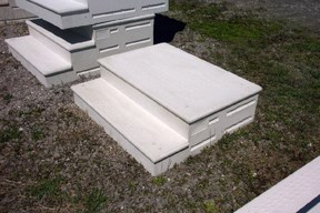 precast cement steps unit step precast concrete products and iron railing 1624