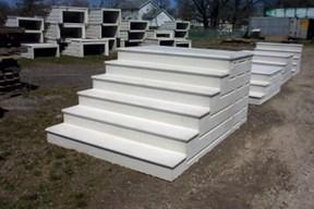 Unit Step Precast Concrete Products And Iron Railing